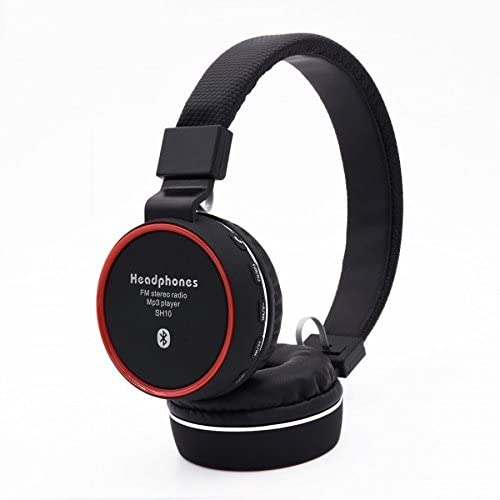 JBL SH 10 Bluetooth Headphone with FM and SD Card Slot  OEM Copy, Black  Headphones