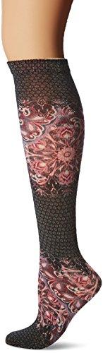 Print Knee High Socks (K. Bell Women's Novelty Fashion Knee High, Paisley Purple Lace Bohem, 9-11)