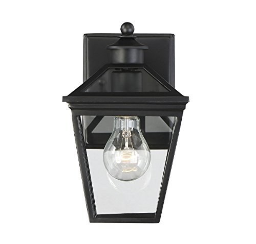 "Price comparison product image Savoy House 5-140-BK Ellijay 7"" Steel Wall Lantern in Black"
