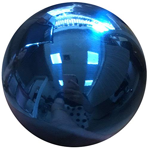 HomDSim 25 cm/10 inch Diameter Gazing Globe Mirror Ball,Blue Stainless Steel Polished Reflective Smooth Garden Sphere,Colorful and Shiny Addition to Any Garden or Home