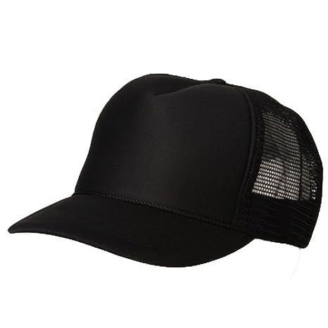 Amazon Com Blank Plain Mesh Trucker Hat Cap Baseball Black