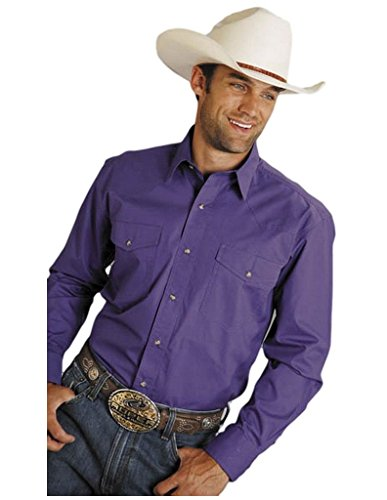 Roper Men's Amarillo Collection Western Shirt Purple X-Large (Collection Roper)