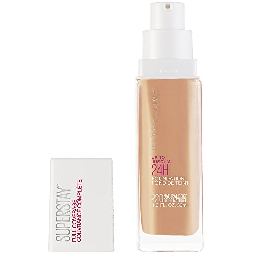 Maybelline Super Stay Full Coverage Liquid Foundation Makeup, Natural Beige, 1 fl. oz.