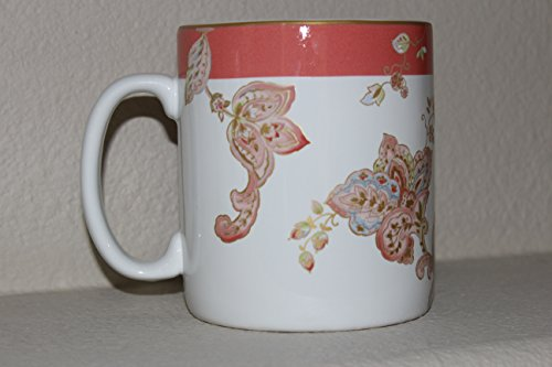 222 Fifth Norah Coral Extra Large 24 Ounce Jumbo Mug