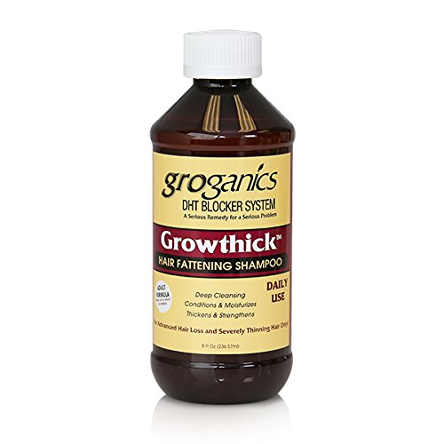 Groganics Grow Thick Hair Fattening Shampoo, 8 Ounce (Pack of 4)