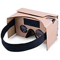 Virtual Real Store 2 sztuki Google Cardboard, zestaw słuchawkowy 3D VR Virtual Reality Okulary pudełko z dużymi…