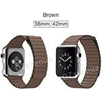 Leather Magnetic Loop Watch Band Replacement Apple Watch 38/42/40/44mm iwatch
