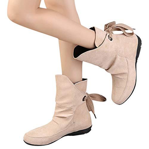 Clearance Sale! Women Martin Boots Cinsanong Ladies Lace Up Short Boots Shoes Buckle Roman Ankle Booties