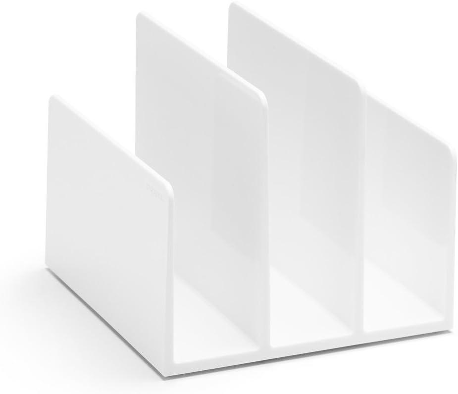 Poppin Fin File Sorter Desk Organizer 6.5 x 6.75 x 5.5 in White