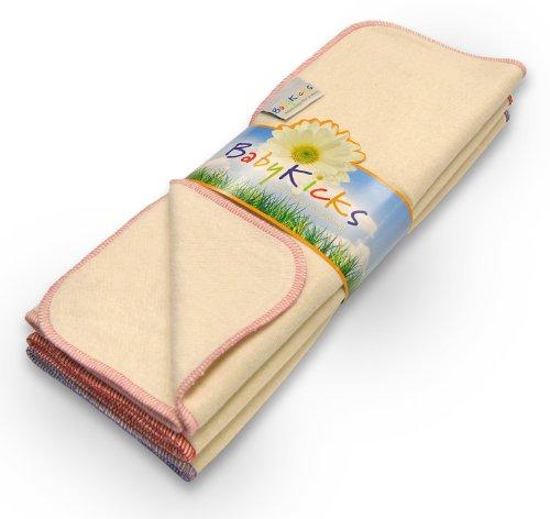 BabyKicks 3 Pack Premium Burp Cloth, Baby Girl