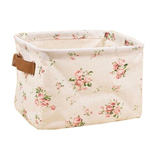 Lovely Floral Household Foldable Storage Basket CD Hamper (Floral Basket)