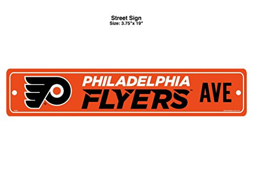 - Wincraft NHL Philadelphia Flyers Full Color Street Sign, 3.75 x 19-inches