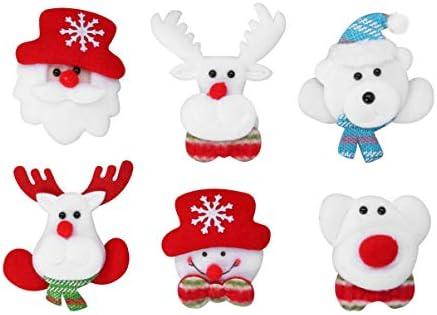 BESTOYARD クリスマス ブローチ 可愛い ピンブローチ 襟ピン ラペルピン ピンバッジ ファッション アクセサリー 6個セット