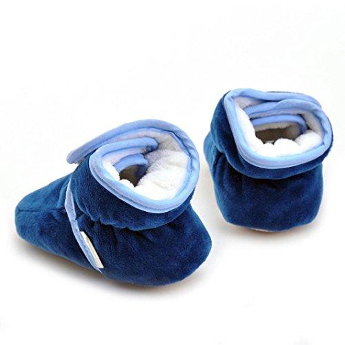 Hunpta Neugeborenes Säuglingsbaby Mädchen feste Krippe schuhe Weiche alleinige rutschfeste Aufladung Dark Blue