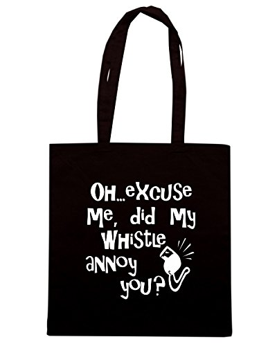 T-Shirtshock - Bolsa para la compra OLDENG00723 whistle annoy navy Negro