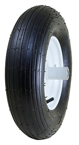 Marathon 4.80/4.00-8″ Pneumatic (Air Filled) Tire on Wheel, 6″ Hub, 5/8″ Bearings, Ribbed Tread Review