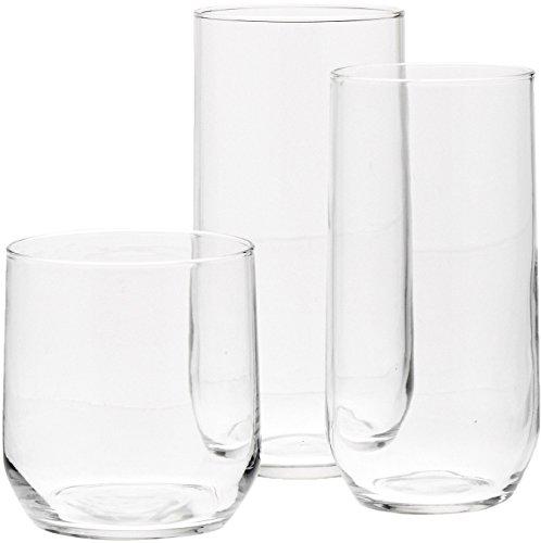Review AmazonBasics 18-Piece Glassware Set