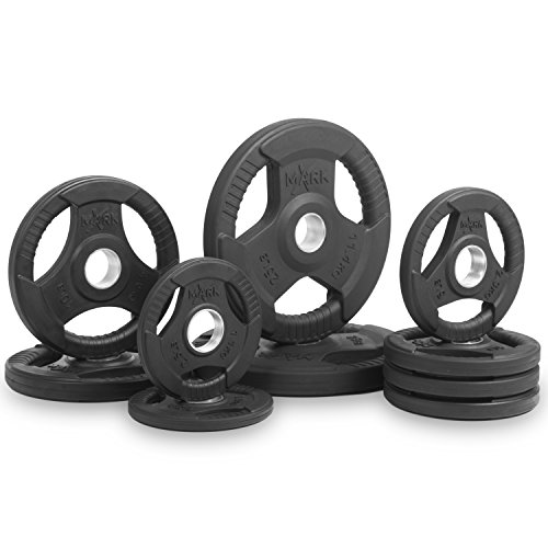 XMark Fitness XM-3377-BAL-95 Rubber Coated Olympic Plates