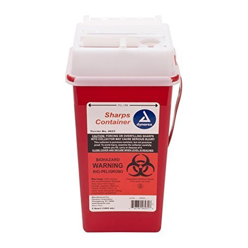 (Medical 2 Quart Sharps Container Needle Disposal)