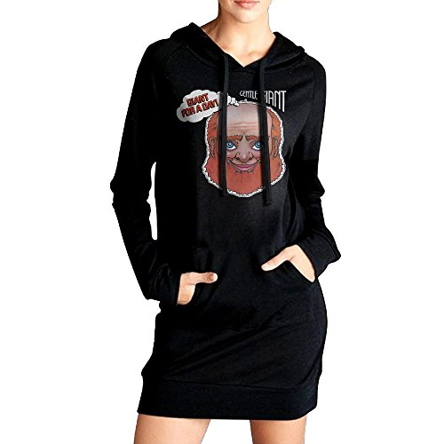 Womens Gentle Giant Giant For A Day Sweatshirt Hoodie Dress With Kangaroo Pockets
