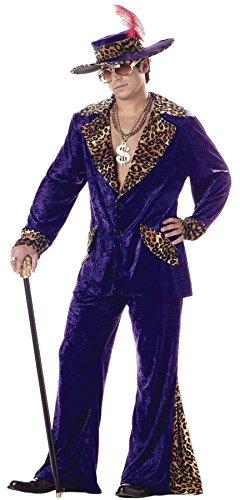 Pimp Suit Purple Adult Costumes (UHC Men's Retro Pimp Purple Theme Party Fancy Dress, X-Large (44-46))