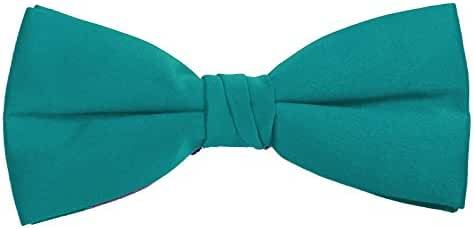 Bow Ties - Classic Pre Tied Adjustible Satin Formal Tuxedo - Multiple Solid Colors - by K. Alexander