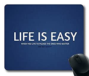 Design Life Is Easy Mouse Pad Desktop Laptop Mousepads Comfortable Office Mouse Pad Mat Cute Gaming Mouse Pad by icecream design
