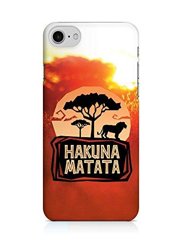 COVER Hakuna matata König der Löwen Steppe orange Design Handy Hülle Case 3D-Druck Top-Qualität kratzfest Apple iPhone 7