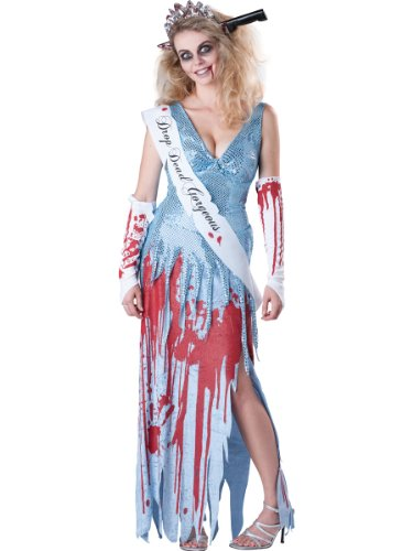 Drop Costume Gorgeous Dead (InCharacter Costumes Women's Drop Dead Gorgeous Costume, Blue/White/Red,)