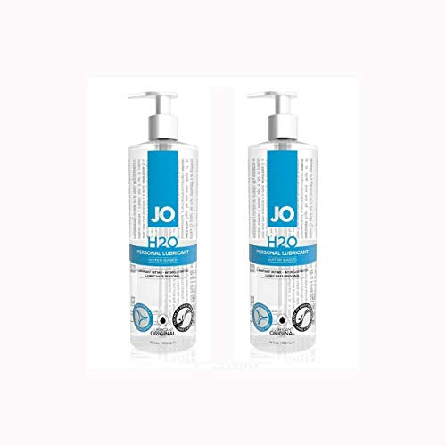 2 PACK System Jo H2O Water-based Lubricant-16 oz