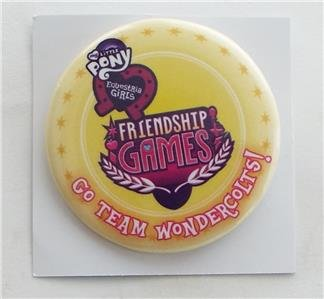 EXCLUSIVE SDCC 2015 MY LITTLE PONY FRIENDSHIP GAMES Collectible Pinback Button