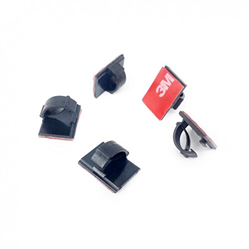 (3M CORDCLIPS 5 Black (Dark 3M VHB) Cord Clips to Secure Wires from Your DASHCAM or Other Devices)