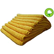 "24PACK 16""X16"" YELLOW GOLD PLUSH THICK MICROFIBER DETAILING TOWELS"