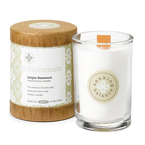Root Candles Seeking Balance Small Spa Candle, 6.5-Ounce, Illuminate: Juniper Rosewood ()