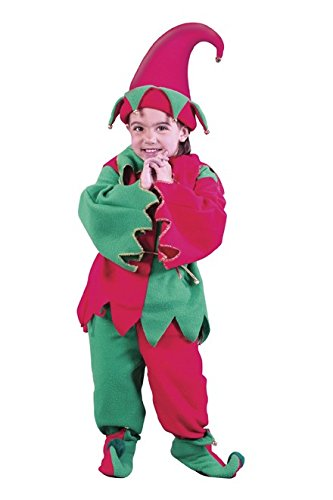 [Fun World Costumes Baby Child Elf Costume, Red/Green, Medium] (Green And Red Elf Costumes)
