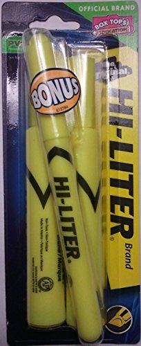 Avery 24081 Yellow Fluorescent Hi-Liter 2 Count Avery Hi Liter Fluorescent