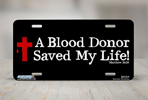 Funny License Plate Holders Blood Donor Christian Car Tags Plates Frame Sign