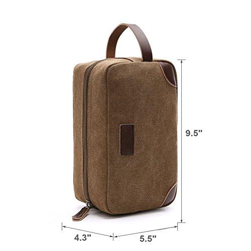 per Borsa Bagno Trucco Accessori Viaggio Beauty Case Toilette da Borsa Portatile Cosmetici grigio grigio da pq8gv71