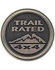 Emblem Badge Jeep Trail Rated 4x4 Trunk Tailgate Fender LOGO for Jeep Wrangler