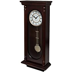 Fox and Simpson FSSW305 Horsforth Walnut Pendulum Clock with Westminster Chimes
