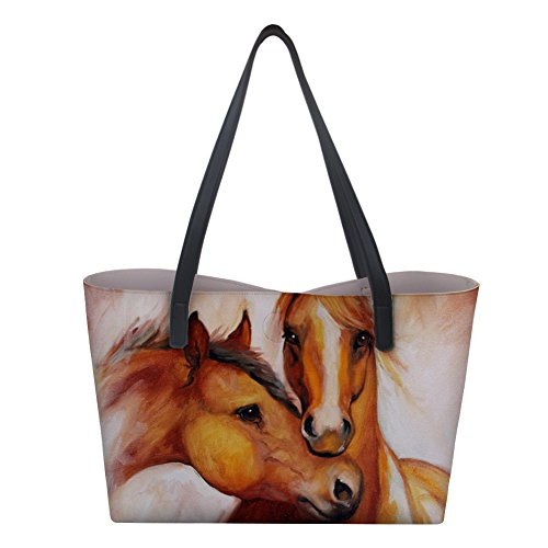 Tote Leather Shopping PU Handbag IDEA Horse Shoulder Bag Horse4 Women Print HUGS w6FqW81nS