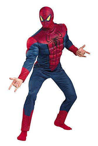 [UHC Men's Amazing Spiderman Classic Muscle Superhero Halloween Costume, Plus (50-52)] (Marvel Super Villains Costumes)