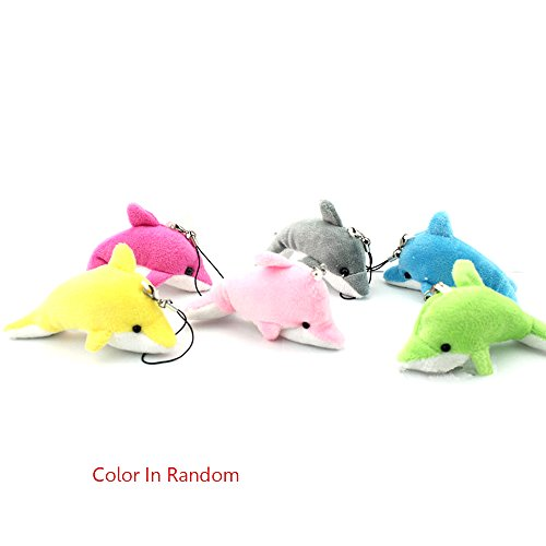 Sealive Cute Plush Toy Phone Key Fob Plush Toys Dolphin Assorted Stuffed Plush Sea Animal Toys,6pcs/1 pack Baby Toss Plush Toy Key Accessories for Boys and Girls(Random - Money Number Tracking Order Usps