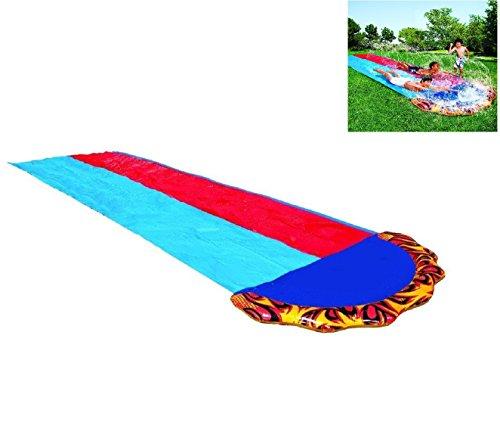 Slip and Slide Dual Double Racer 2 Lane Kids 16 Foot Water Slide