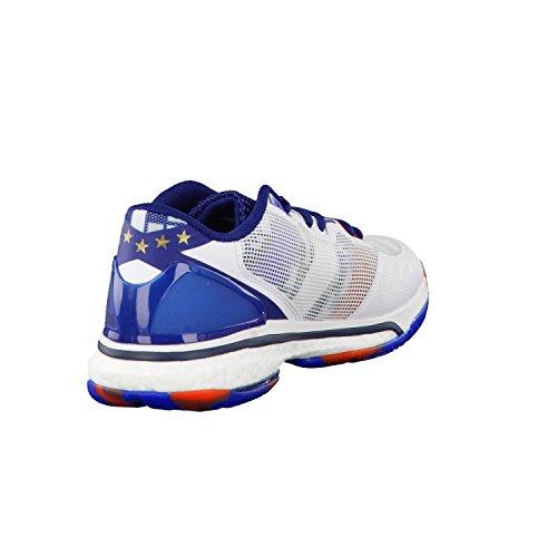 adidas Herren Handballschuhe stabil boost 20Y ftwr white/utility black f16/mystery blue s17 50 2/3