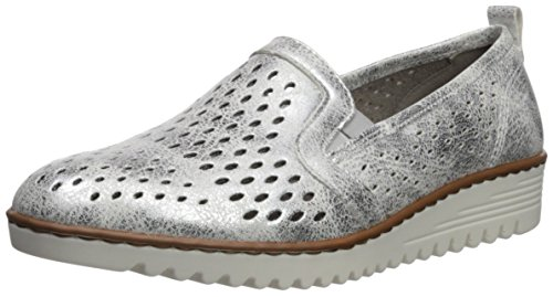 ara Women's Pacha Loafer Flat, Silver/Metallic, 38 M EU (7.5 US)