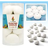 Unscented Floating Candles, Set of 36 White Floating Tea Lights Candles with Nice and Smooth Flame, Party Accessories