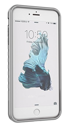 iPhone 6 6S Plus Case, iPhone 8 Plus Case, iPhone 7 Plus Case, Moment Dextrad [Non-slip Grip][Dual Layer][Impact Resistant] Hybrid Full-body Heavy Duty Protection Cover + Stylus (Silver / Gray) (6 Rough)