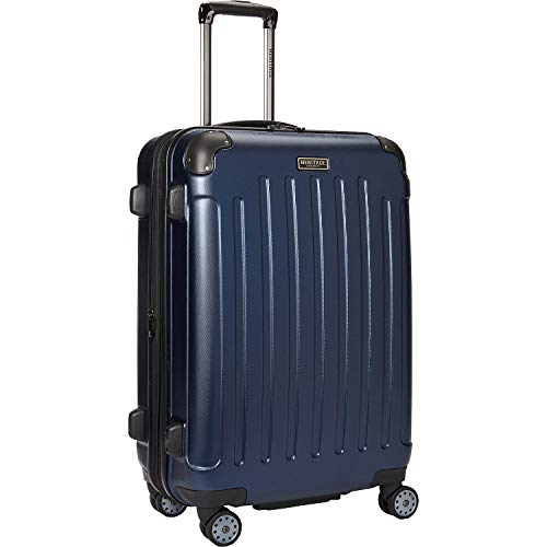 "Heritage Travelware Logan Square 25"" Lightweight Hardside Expandable 8-Wheel Spinner Checked Suitcase, Navy"