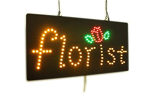 Florist, Flowers Sign, Super Bright High Quality LED Open Sign, Store Sign, Business Sign, Windows Sign, LED Neon Sign